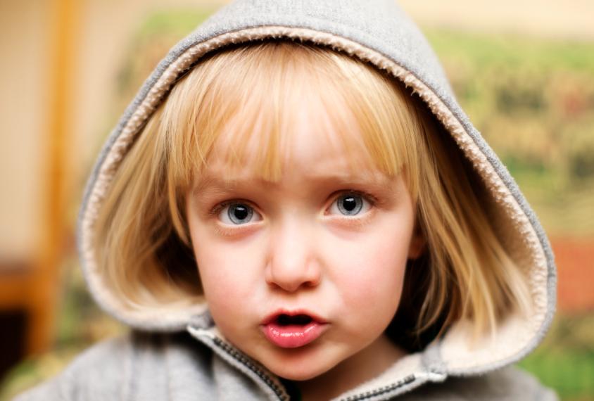Blond toddler