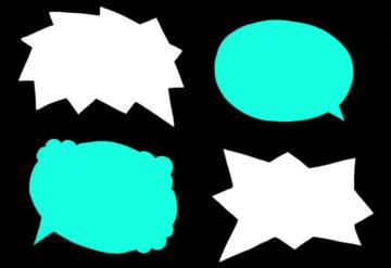 Illustration of empty text bubbles.