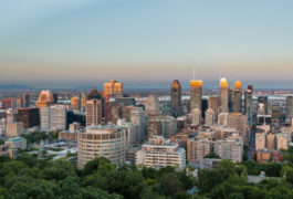 View of downtown Montreal