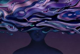 Illustration showing artist interpretation of experiencing psychosis
