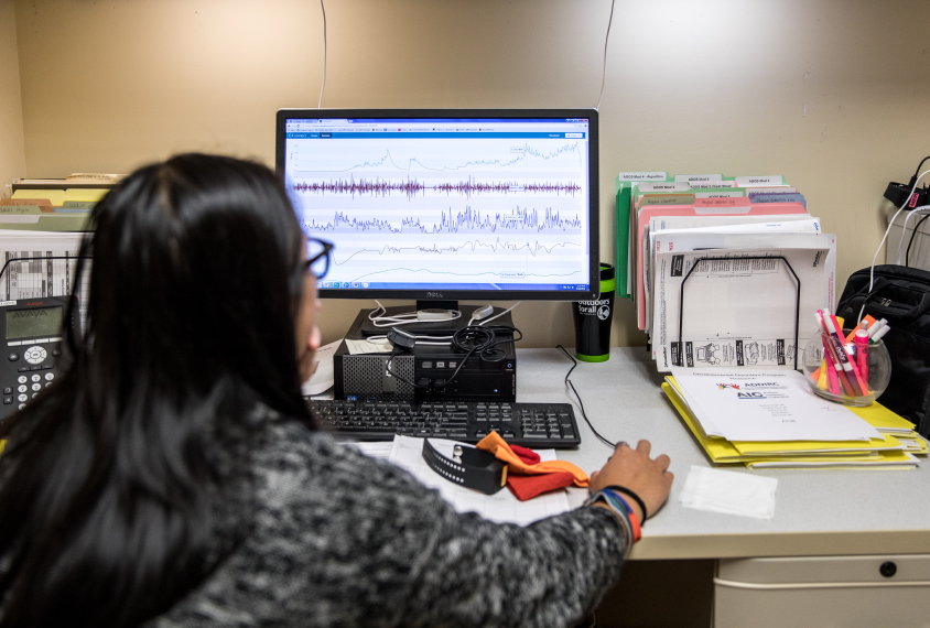 researcher/clinician enters data on behavior into system