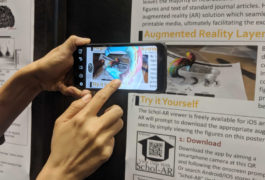 Smart phone with augmented reality app