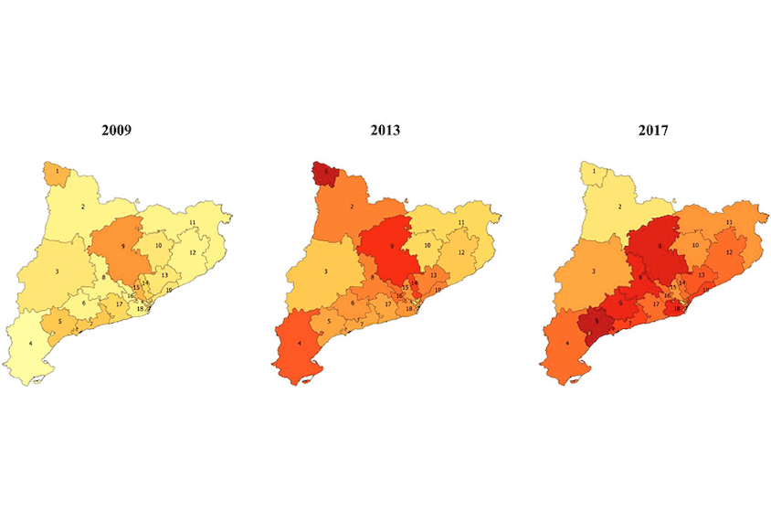 map shows autism prevalence over time