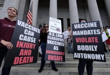 anti vaccine protesters