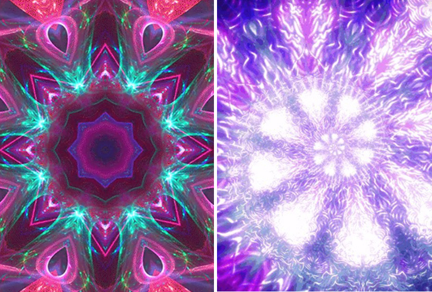 Two fractal images side by side