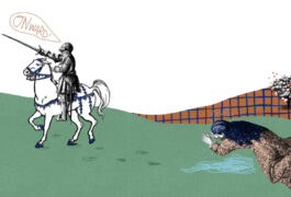The knight Perceval leaves his mother in extreme distress, oblivious to his effect, as he rides into the distance.