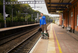 William Mandy at train station