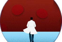scientist facing the coronavirus