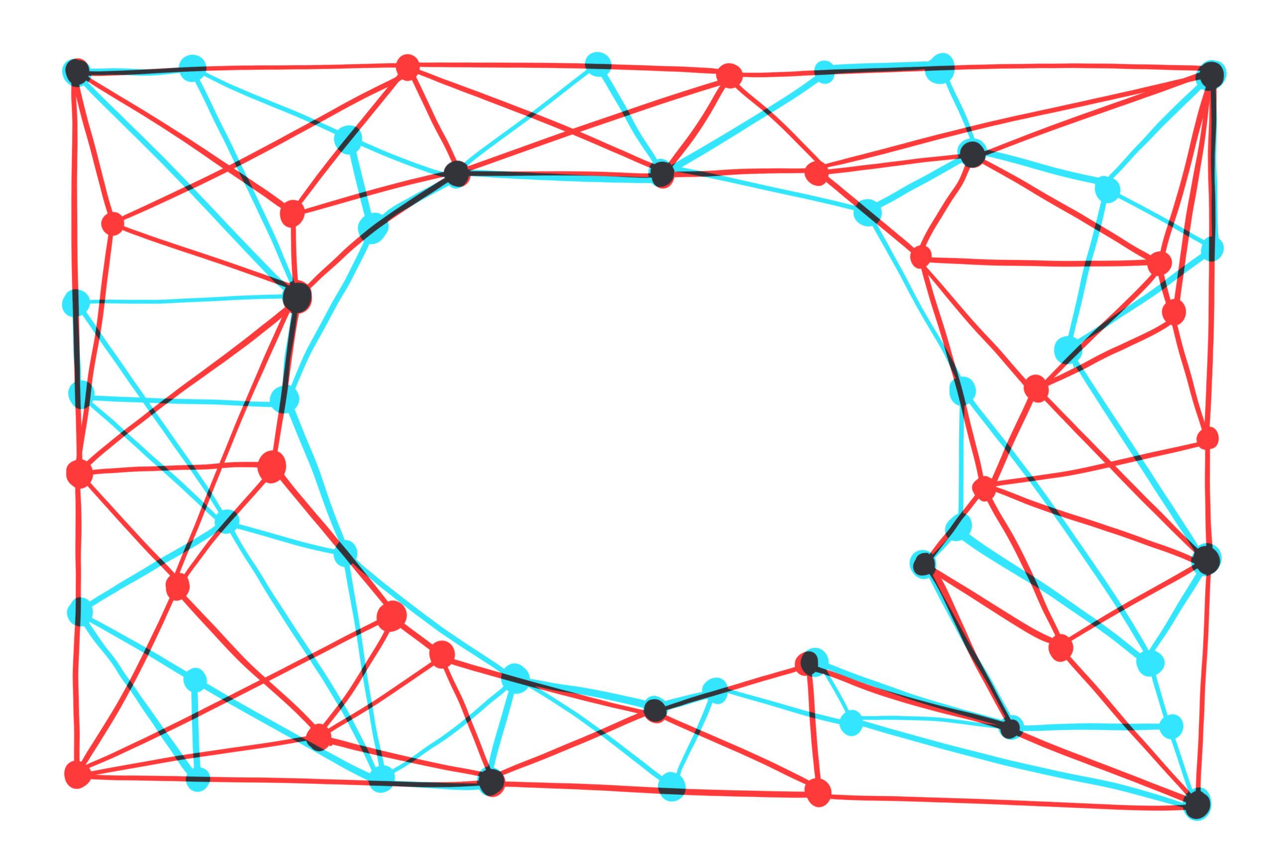 通过通信网络形成的讲话泡泡