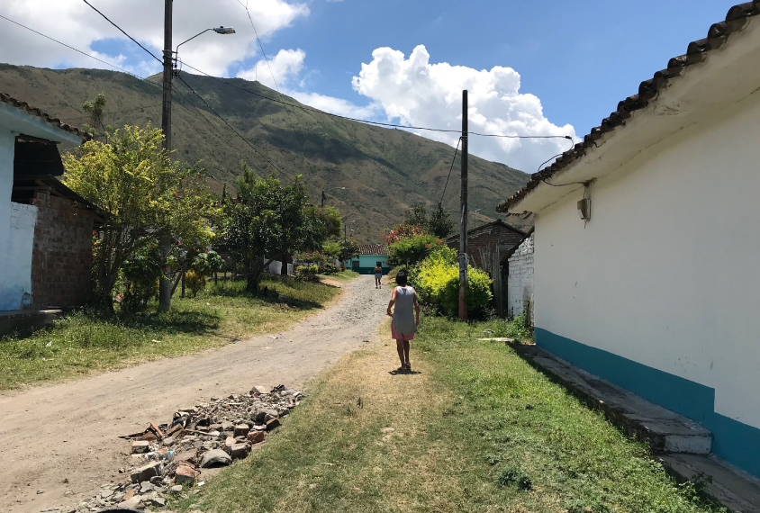 Street view in Ricuarte, Colombia