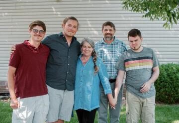 Portrait of the Lane family in Kentucky.