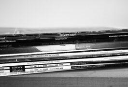 Stack of journals.